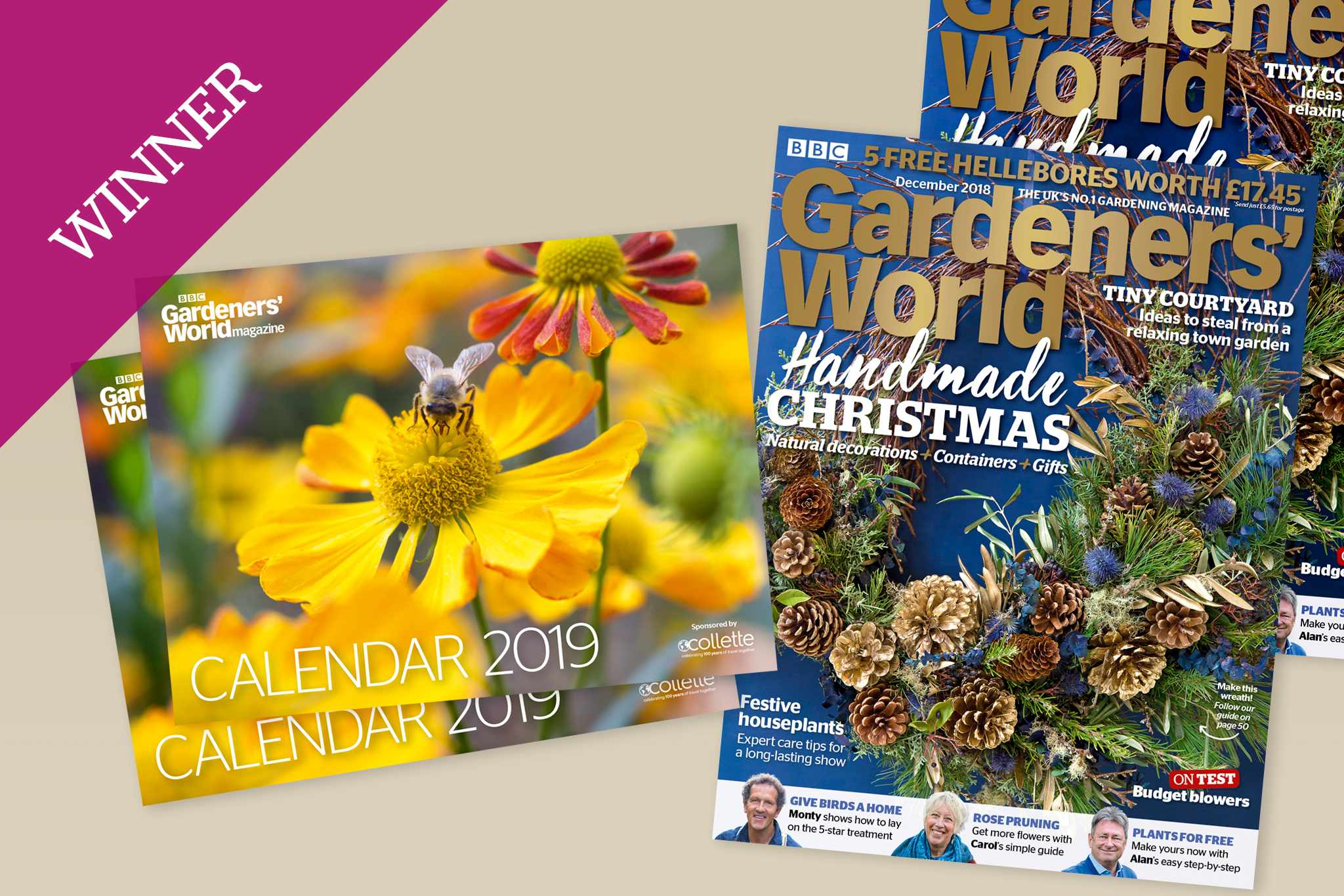 2019 Calendar free with Gardeners' World Magazine