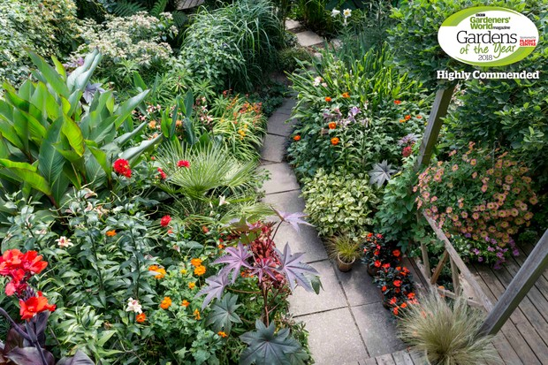 Tropical haven: Tim Richardson, Sussex. Gardens of the Year 2018 competition.