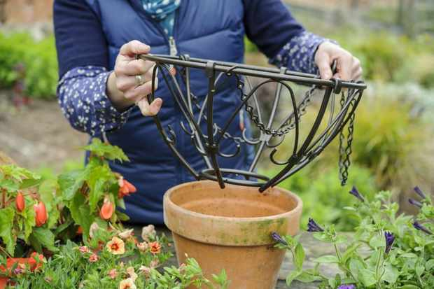 supporting-the-basket-for-planting