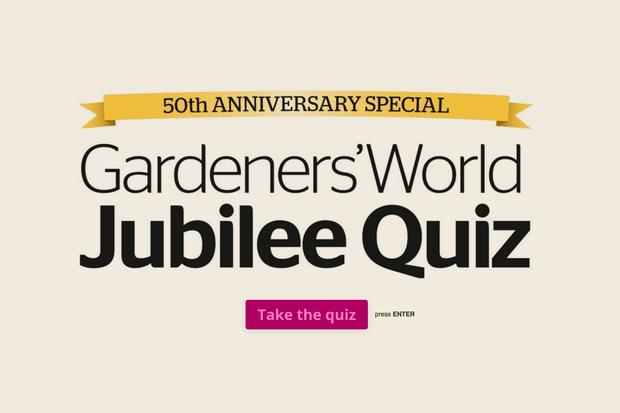 Gardeners' World Jubilee Quiz