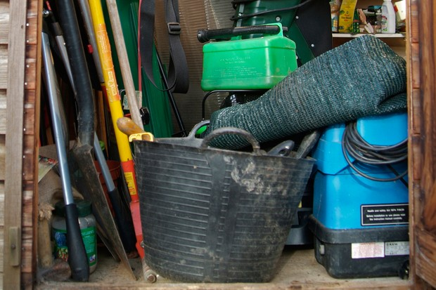 How to clean and repair your garden shed - emptying the shed
