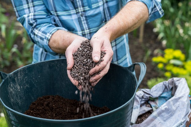 Creating a gritty, well-drained compost mix for planting succulents in
