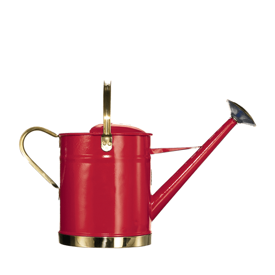 Red watering can