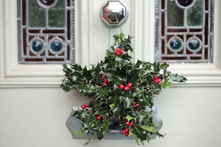 Christmas holly star NFG video