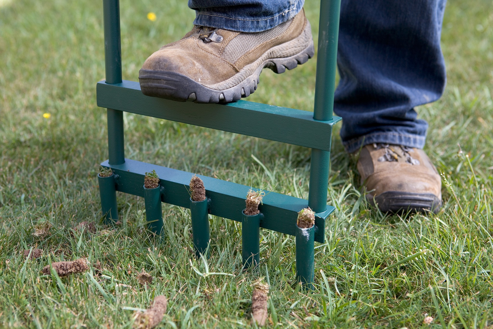 Aerating the soil