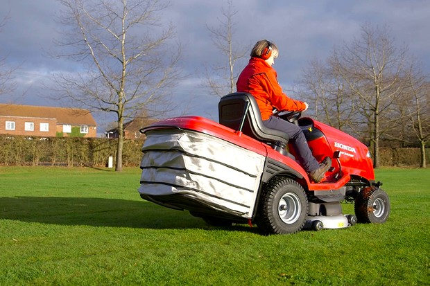 Driving a ride-on lawn mower