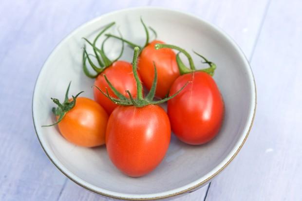 A bowl of 'Rio Grande' plum tomatoes