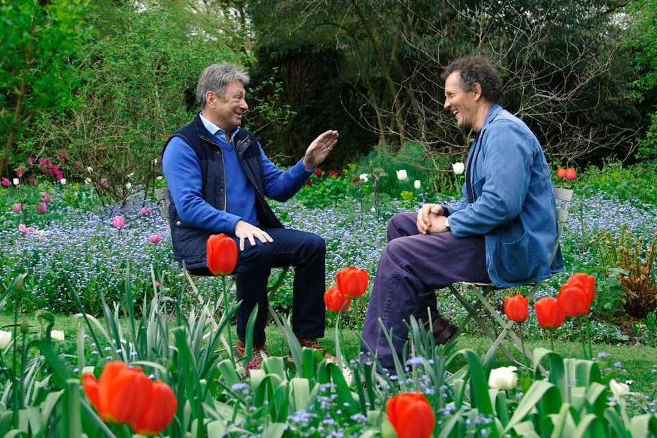 Alan and Monty sharing memories