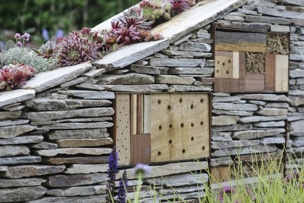 drystone-wall-in-garden-with-bee-hotels-incorporated-into-the-structure