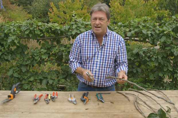 Choosing secateurs