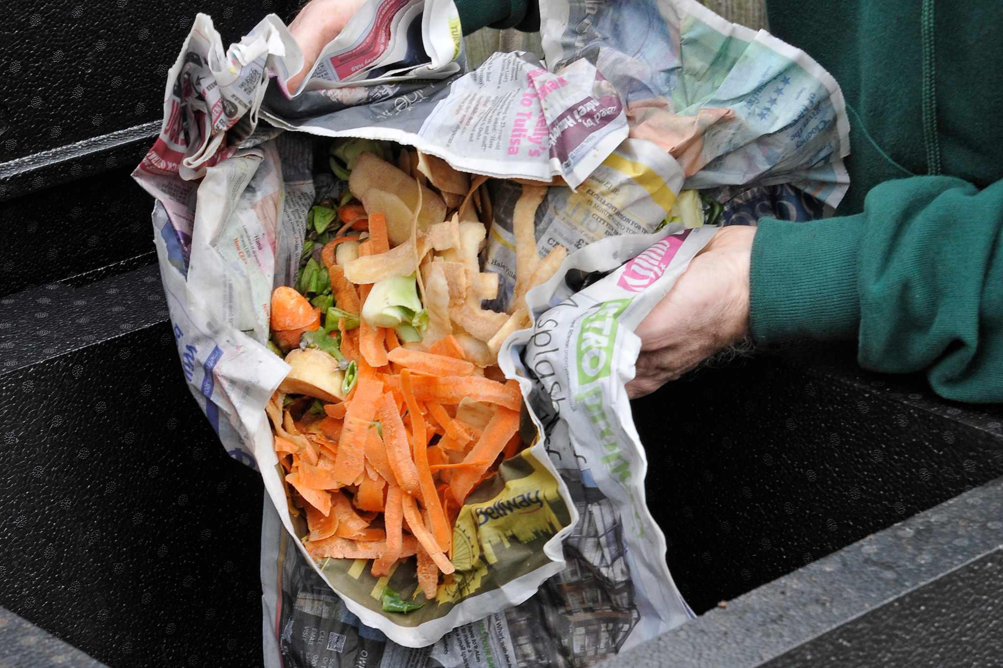Composting veg peelings