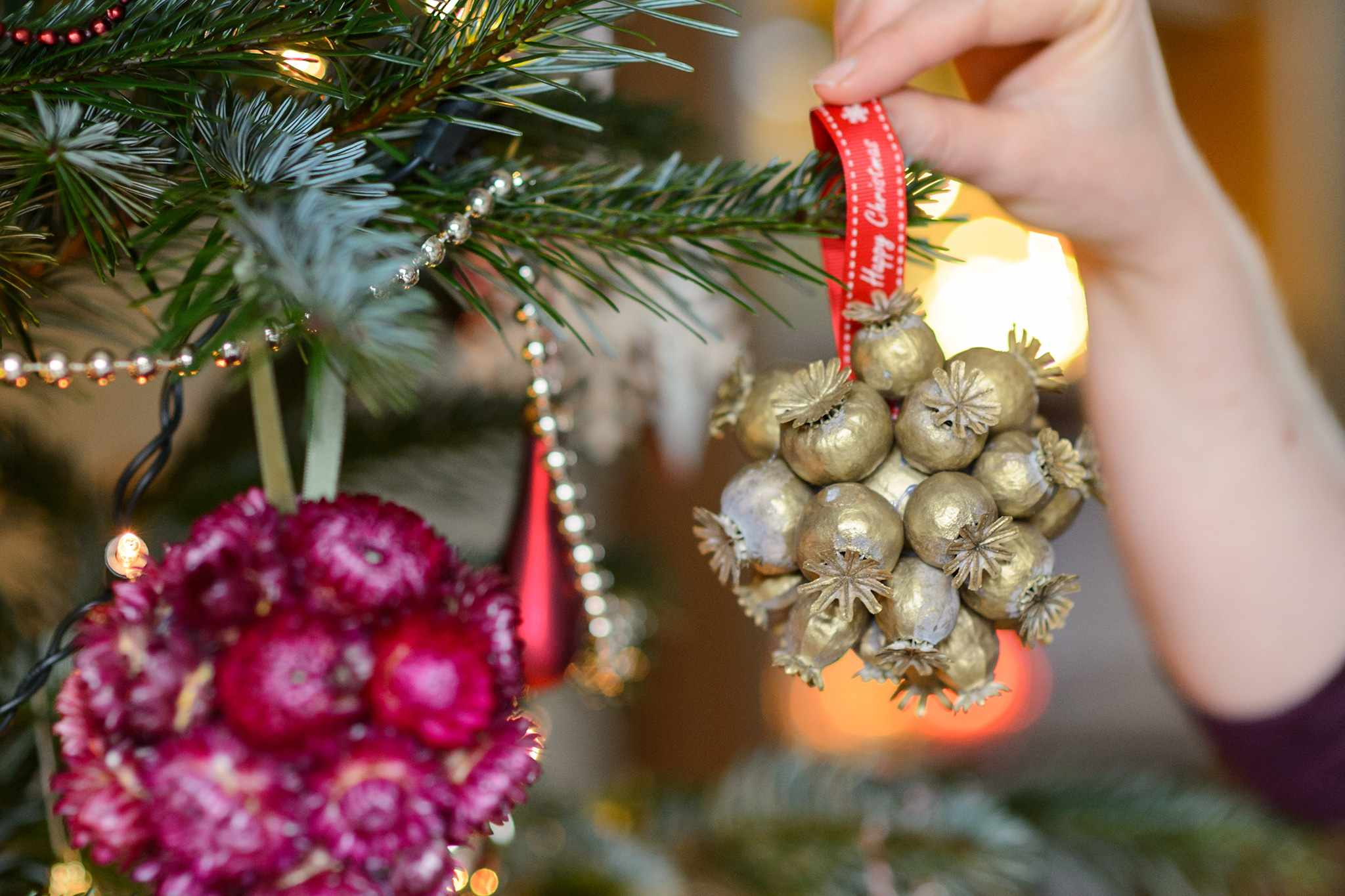 How To Make Seedhead Baubles