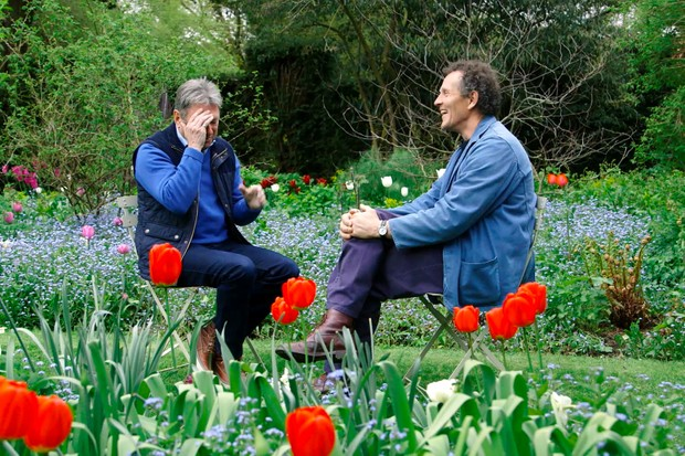 Alan and Monty chatting about Gardeners' World