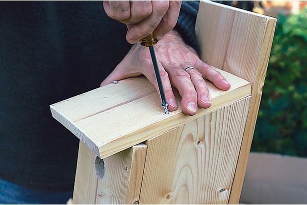 screwing-in-self-tapping-screw-to-bird-box-2