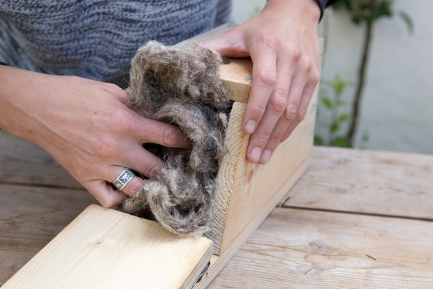 Adding insulation material