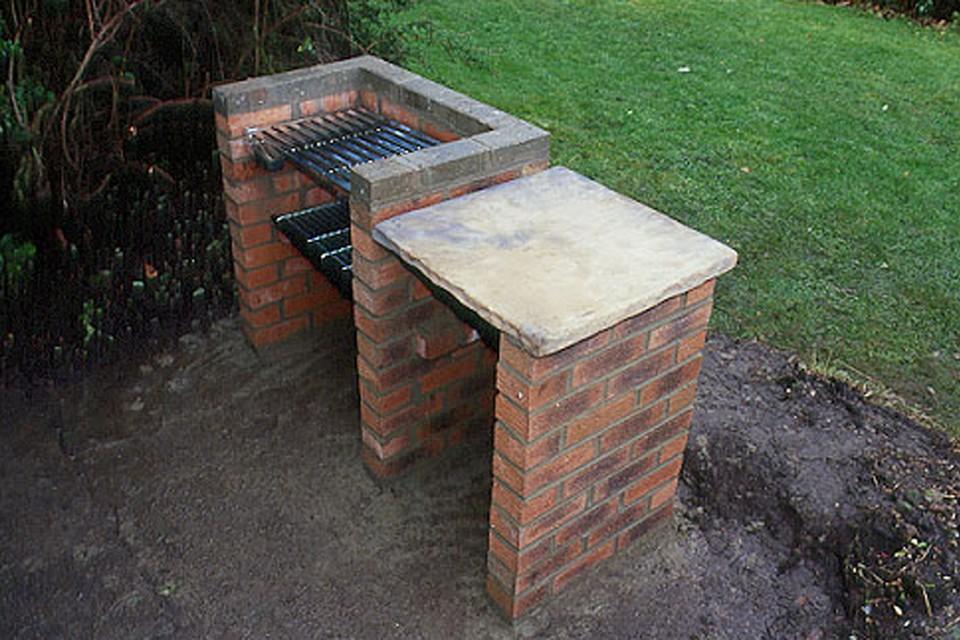 Un barbecue in muratura