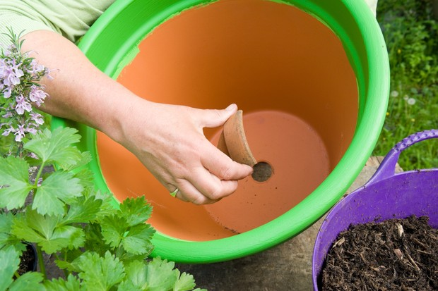 Herb pot for vegetable dishes - adding crocks