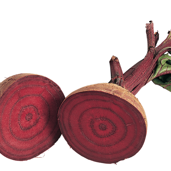 Beetroot cut in half