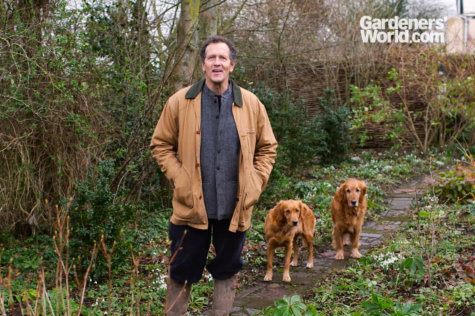 Monty Don video tour of Longmeadow in winter