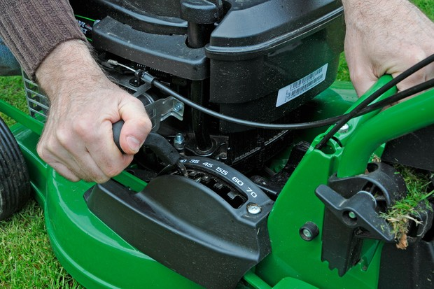 Raising a mower's cutting height