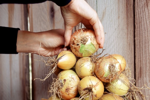 How to store onions - adding onions to the top