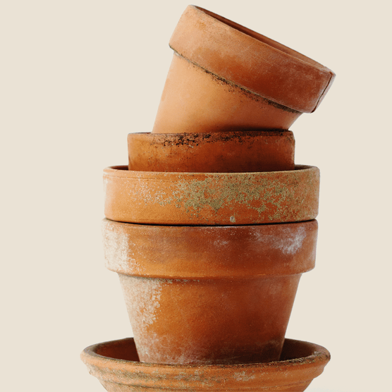 Stack of pots. Photo: Getty Images.