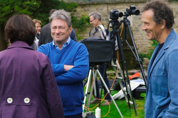 Monty Don and Alan Titchmarsh at the Gardeners' World 50th Anniversary cover shoot for the June 2017 magazine
