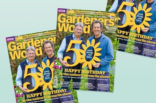 Celebratory 50th Anniversary Collector's Edition of Gardeners' World Magazine