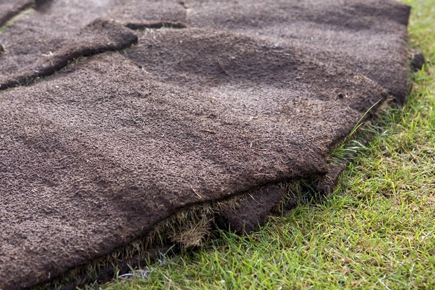 What can I do with spare lawn turf