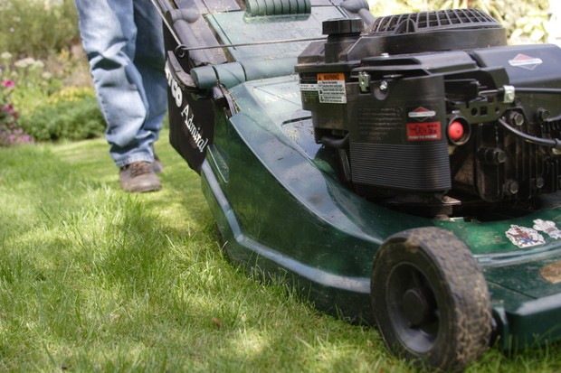 Mowing your new lawn