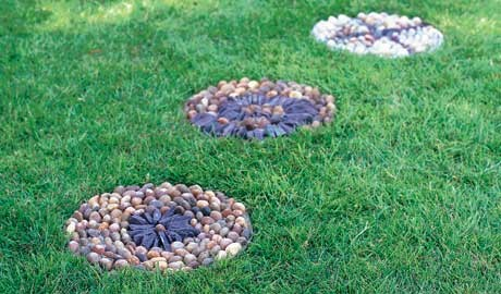 How to make a pebble mosaic path