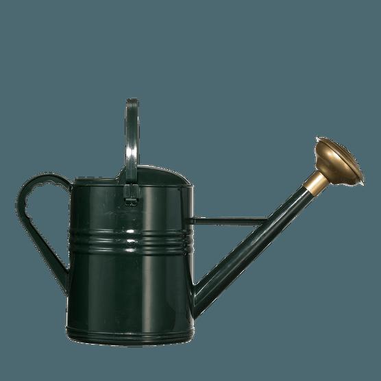 Dark green watering can