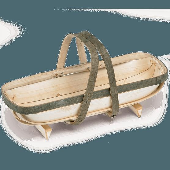 Wooden gardeners' trug