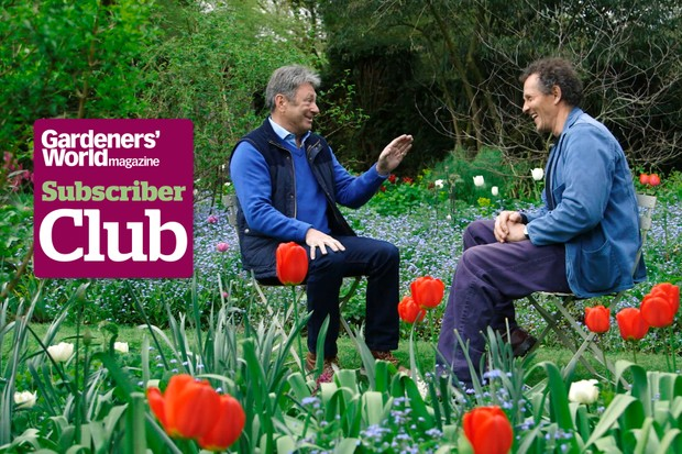 Alan and Monty chatting together about their time at Gardeners' World