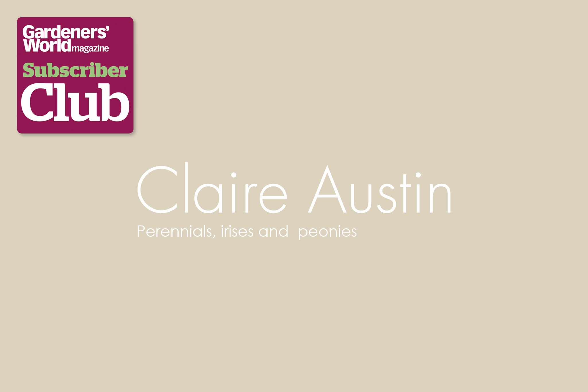 Claire AustinGarden Bird Supplies BBC Gardeners' World Magazine Subscriber Club discount