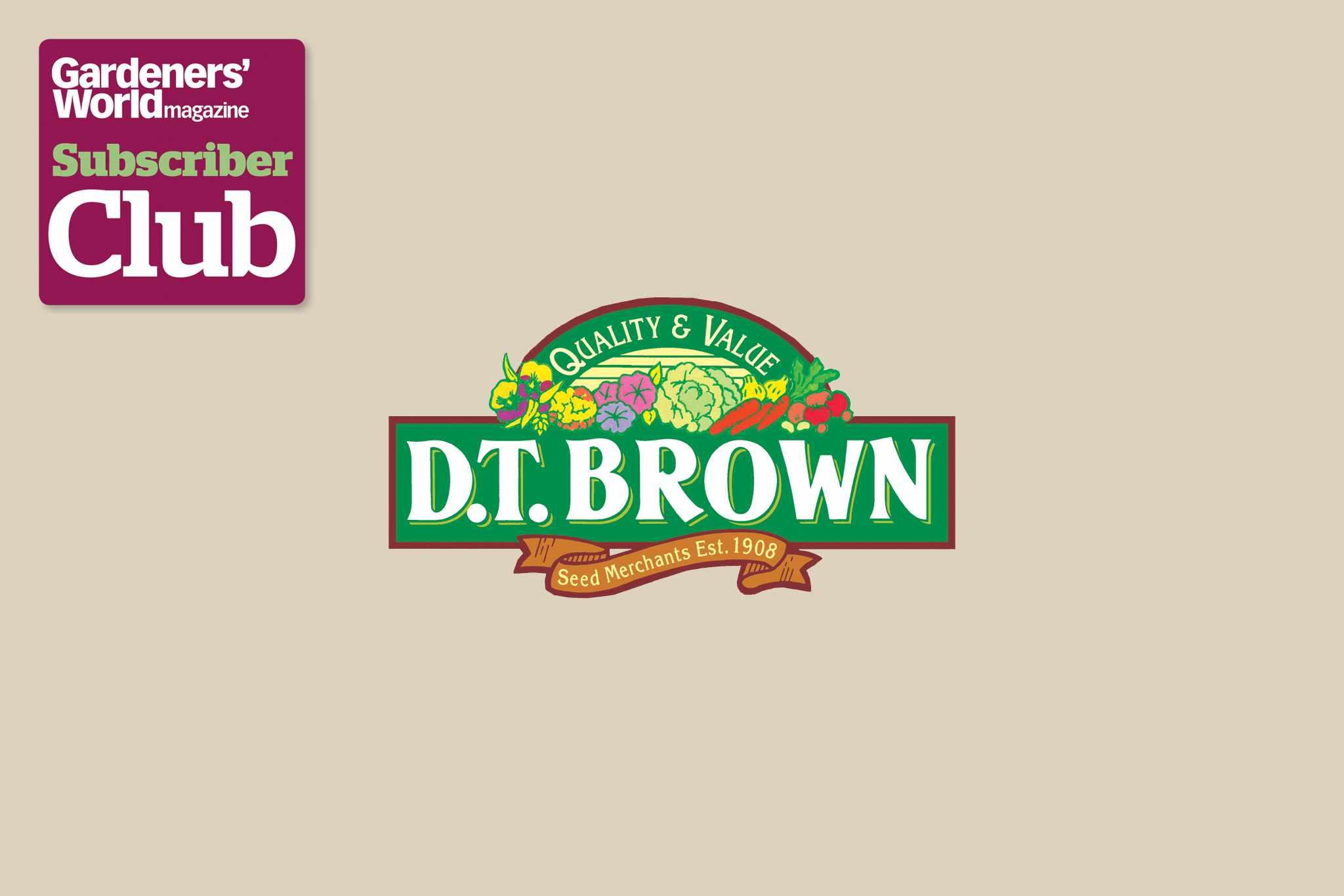 D T BrownGarden Bird Supplies BBC Gardeners' World Magazine Subscriber Club discount