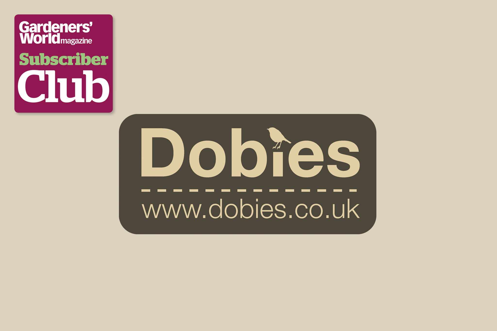 Dobies BBC Gardeners' World Magazine Subscriber Club discount