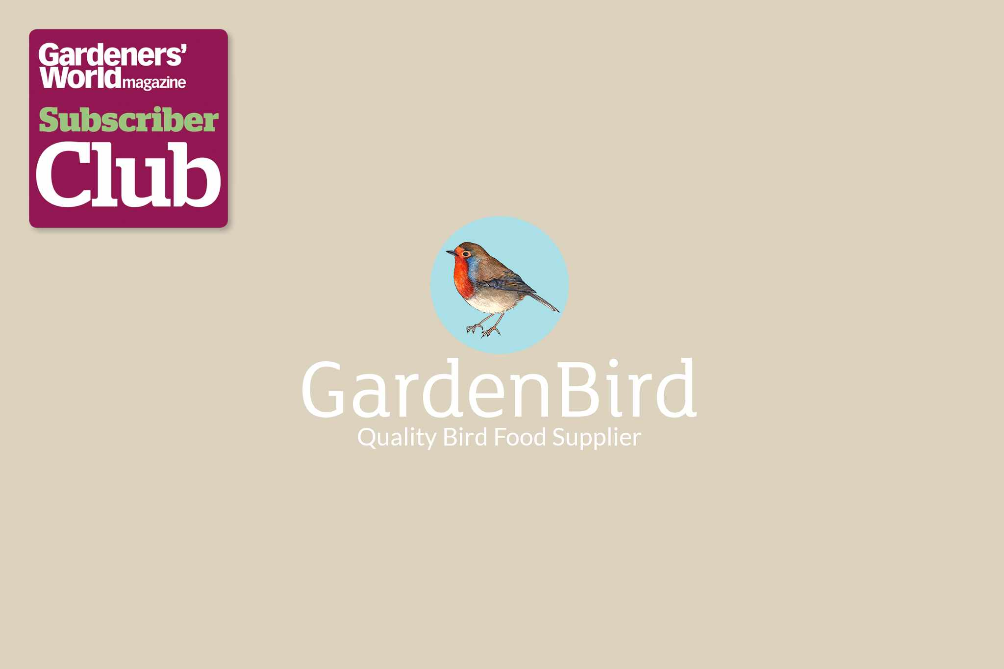 Garden Bird Supplies BBC Gardeners' World Magazine Subscriber Club discount