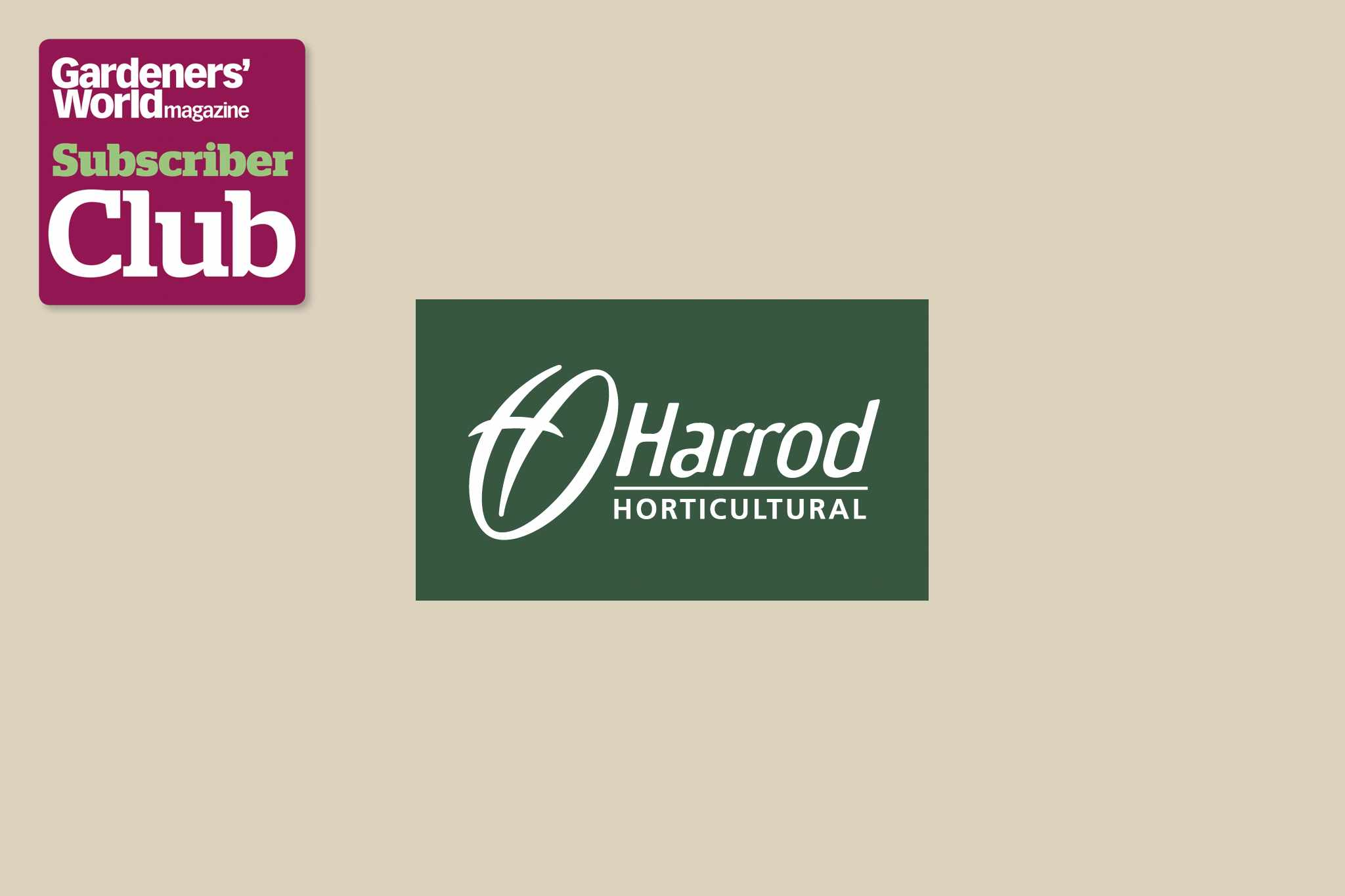 Harrod Horticultural BBC Gardeners' World Magazine Subscriber Club discount