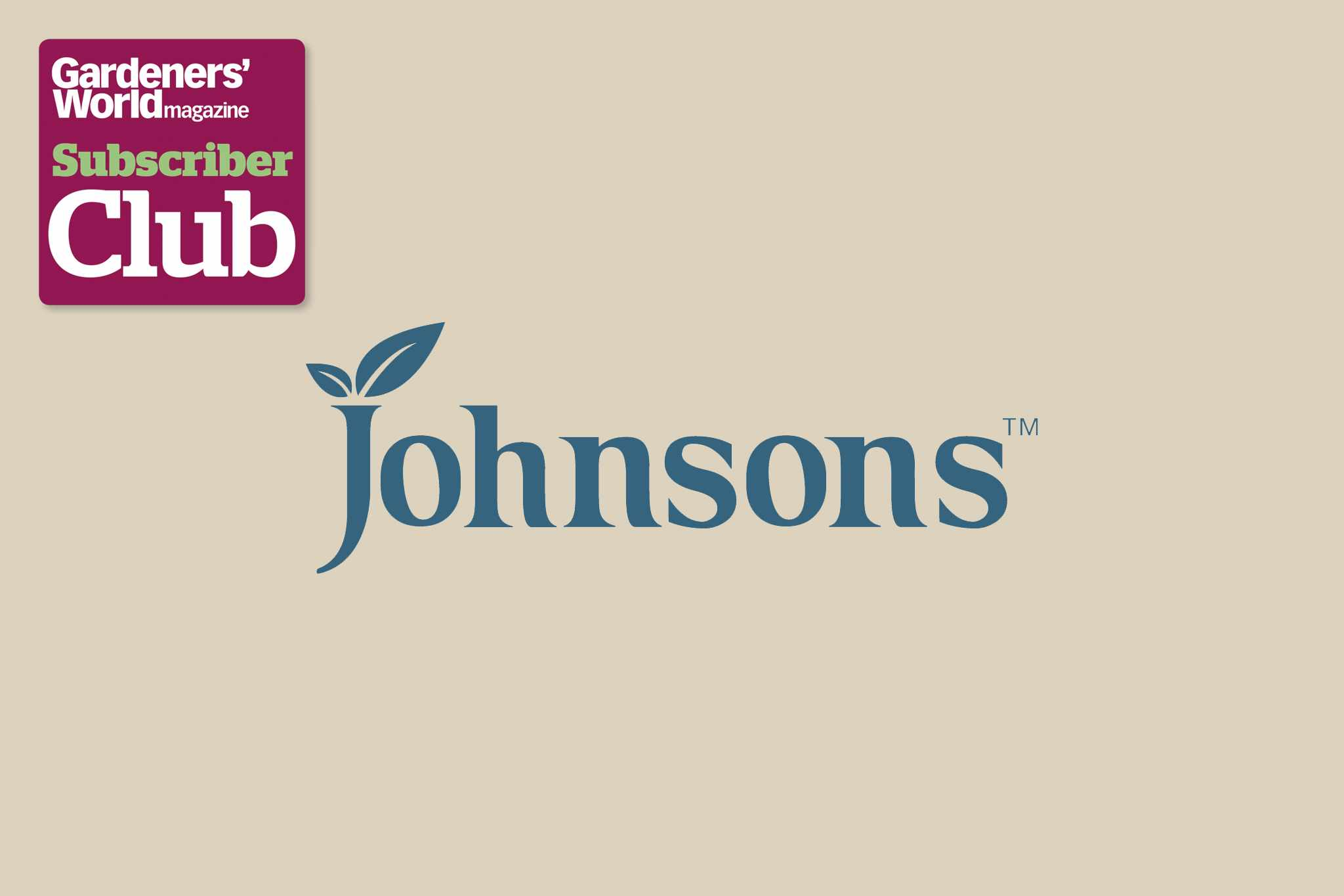 Johnsons BBC Gardeners' World Magazine Subscriber Club discount