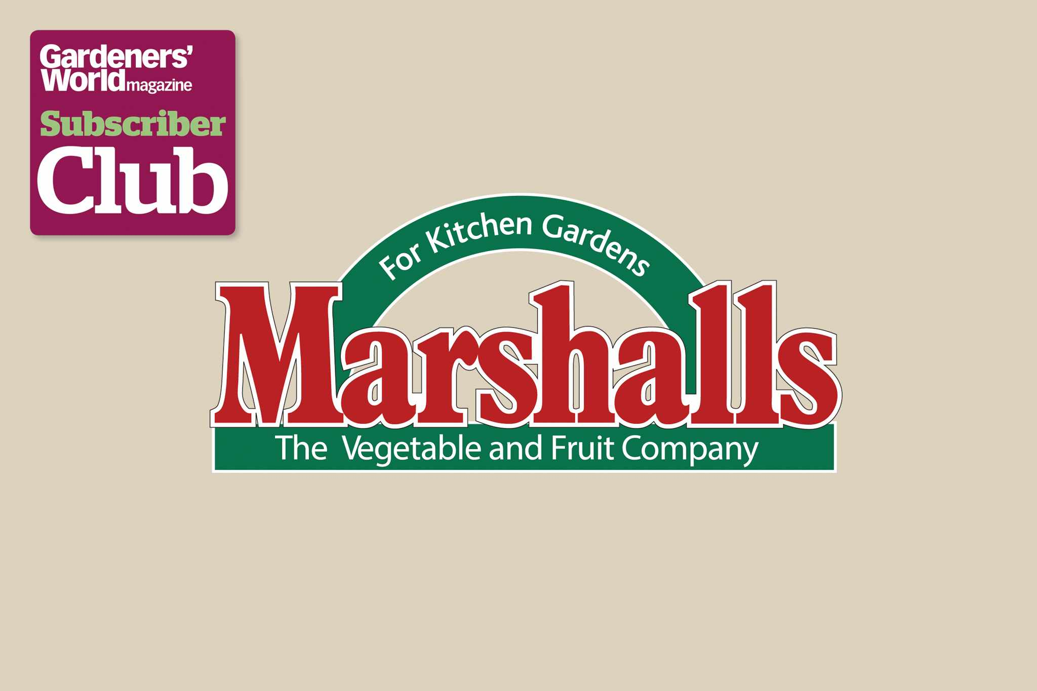 Marshalls BBC Gardeners' World Magazine Subscriber Club discount