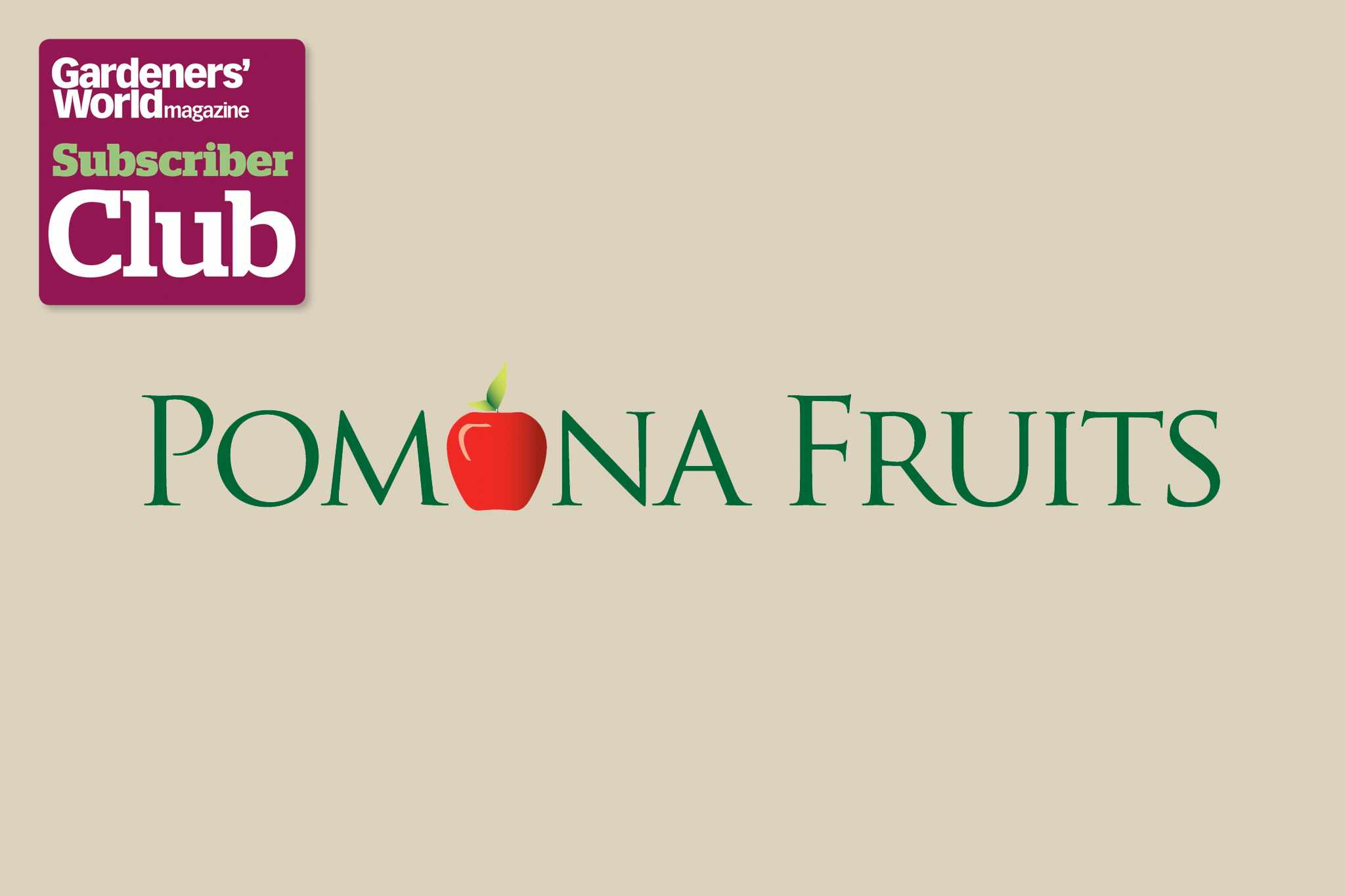 Pomona Fruits BBC Gardeners' World Magazine Subscriber Club discount