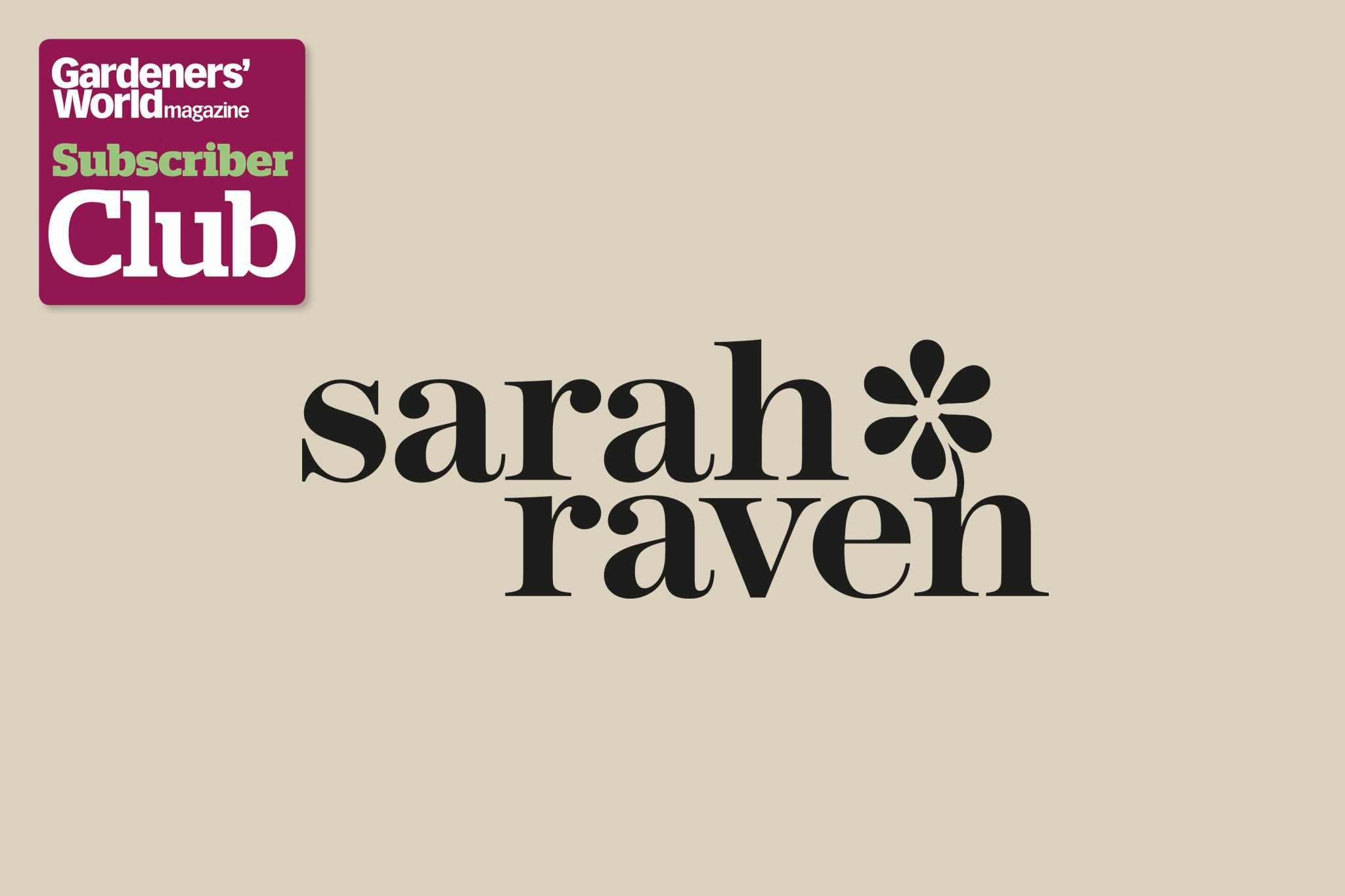 Sarah RavenGarden Bird Supplies BBC Gardeners' World Magazine Subscriber Club discount