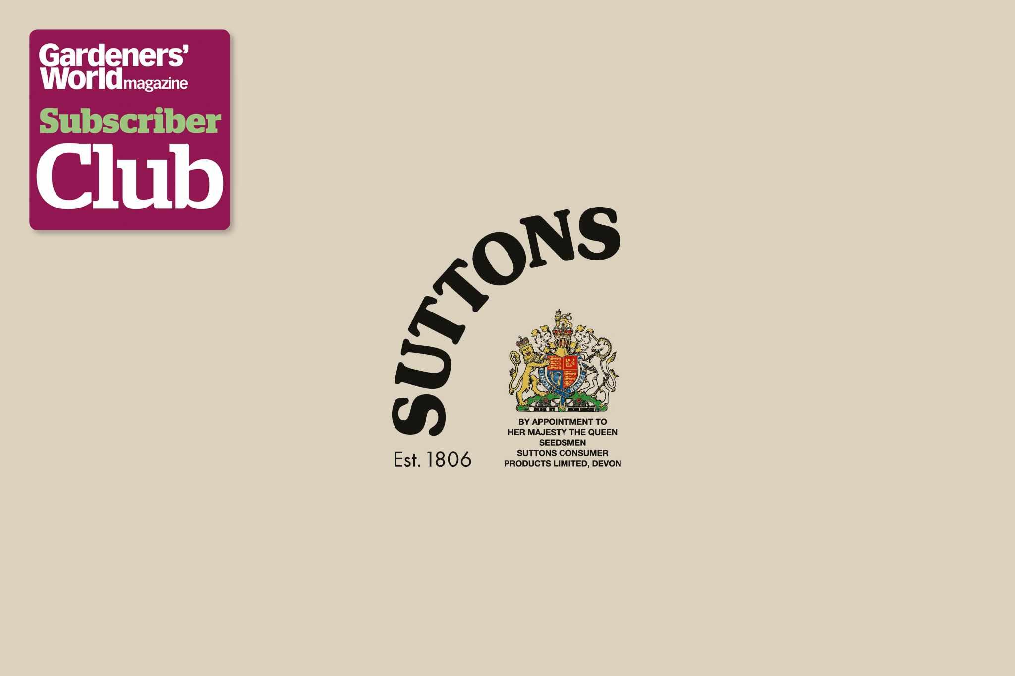 SuttonsGarden Bird Supplies BBC Gardeners' World Magazine Subscriber Club discount
