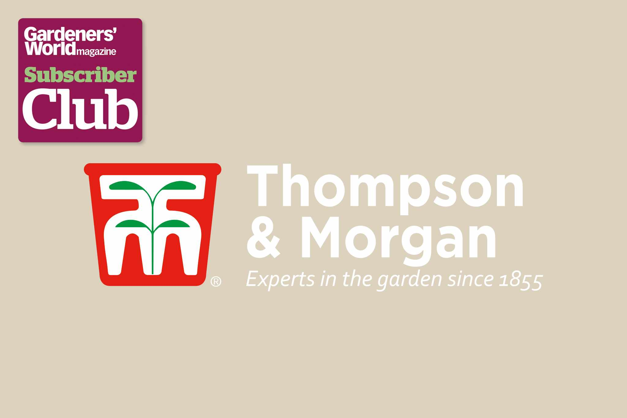 Thompson & Morgan BBC Gardeners' World Magazine Subscriber Club discount