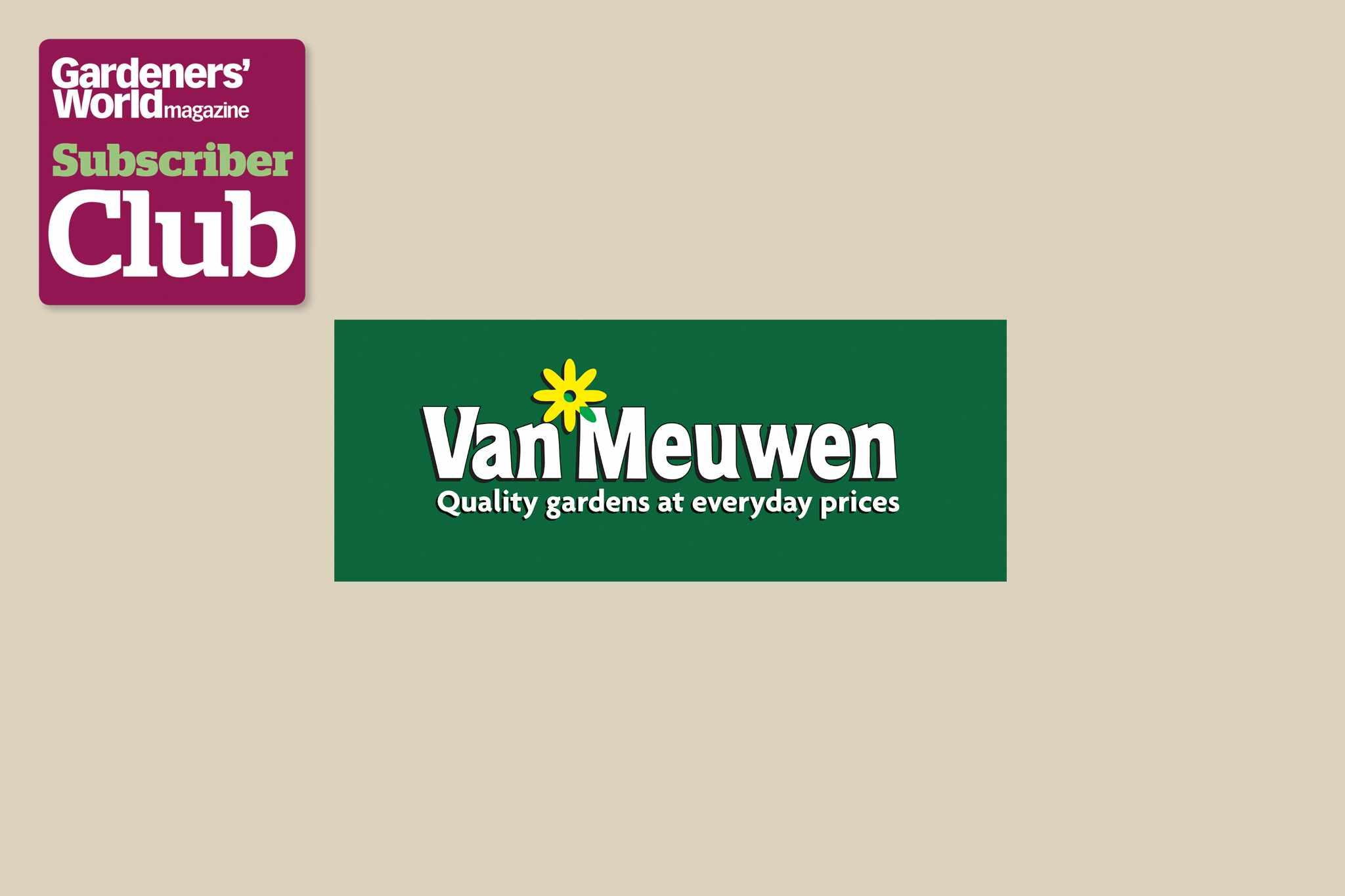 Van Meuwen BBC Gardeners' World Magazine Subscriber Club discount