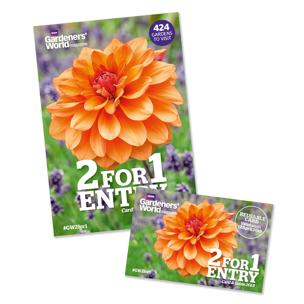 2-for-1 Gardens 2018 card and guide