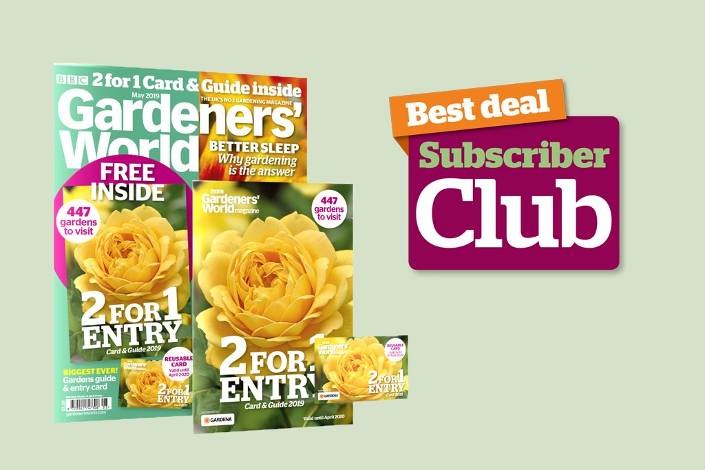 Subscriber Club - best deal on BBC Gardeners' World Magazine May 2019 back issue