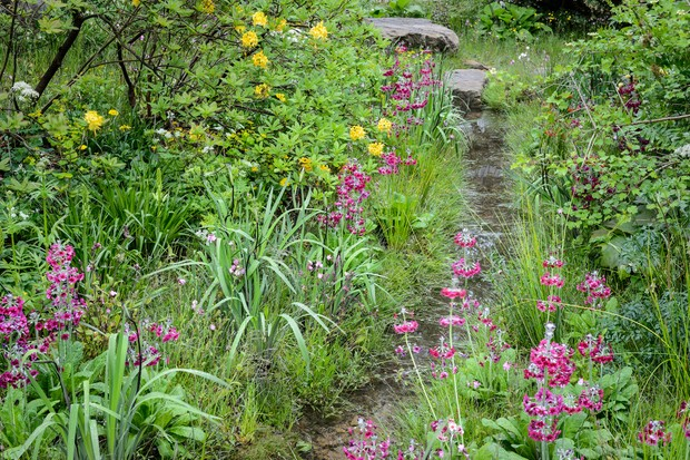 Artificial garden stream