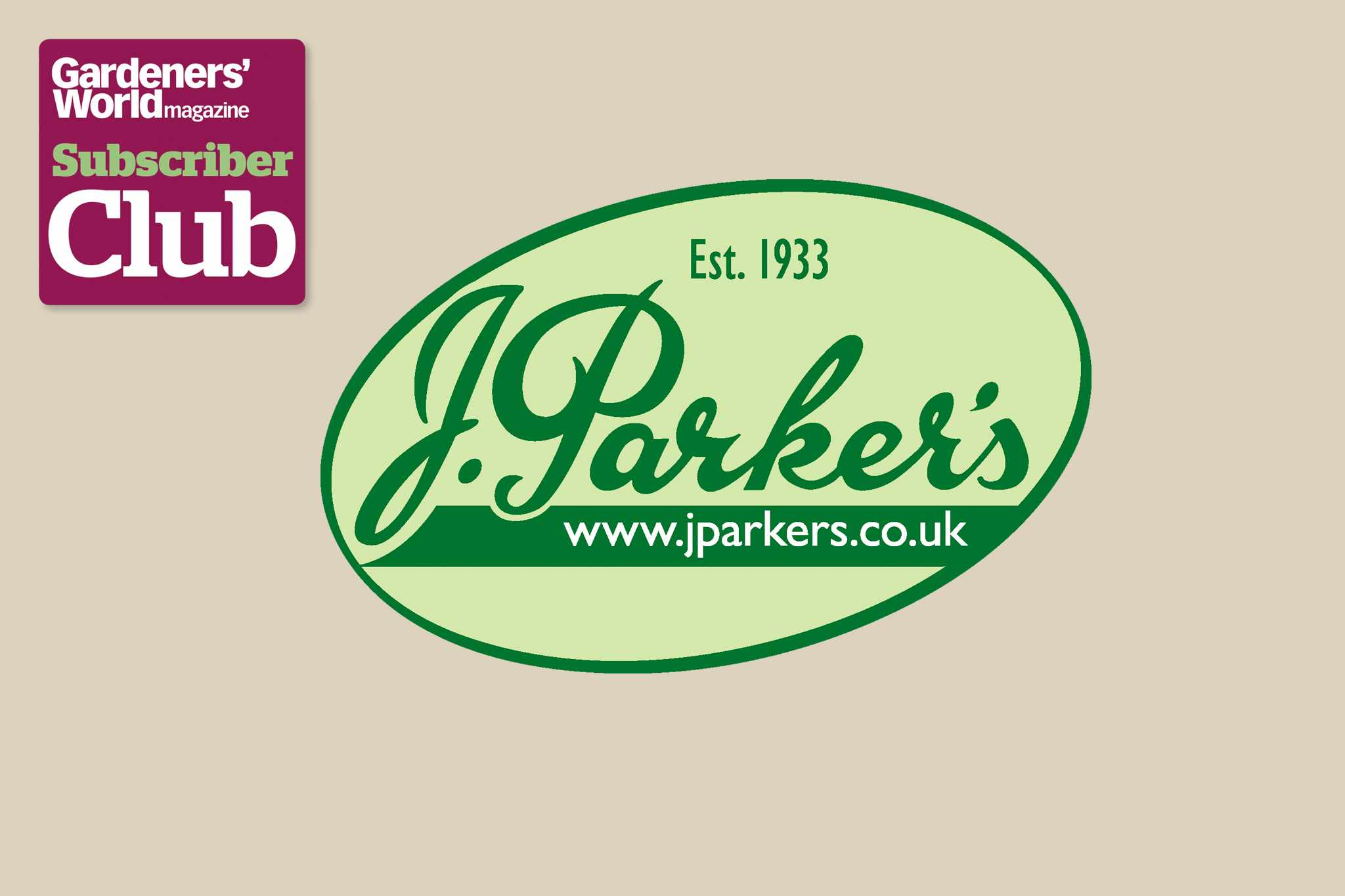 J Parker's BBC Gardeners' World Magazine Subscriber Club discount